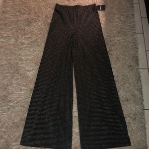 Forever 21 high waisted silver dress pant (M)